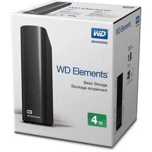 "Зовнішній жорсткий диск Western Digital 3.5"" USB 4.0Tb Elements Desktop black WDBWLG0040HBK-EESN"