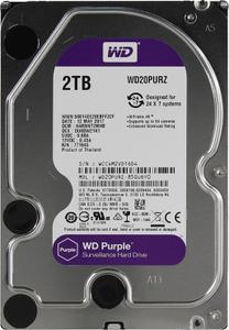 """Внутрішній жорсткий диск Western Digital purple 2ТБ 5400 обертів в хвилину 64МБ 3.5"""" SATA III WD20PURZ"""