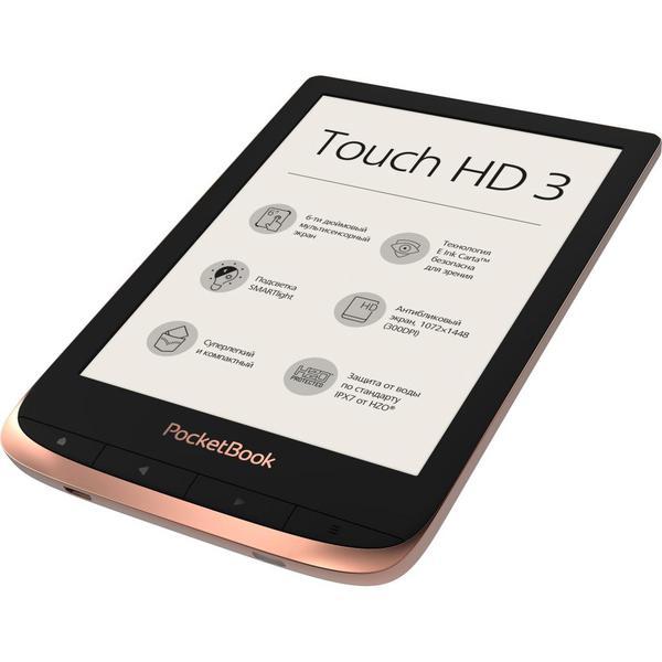 Електронна книга Pocketbook 632 Touch HD 3 Spicy Copper (PB632-K-CIS), мініатюра №5
