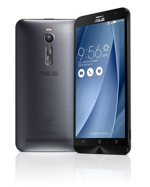 Смартфон Asus ZenFone 2 4-64 Gb Glacier grey 90AZ00A5-M03670, мініатюра №2