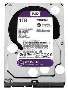 """Внутрішній жорсткий диск Western Digital 3.5"""" SATA 3.0 1TB 5400 64MB purple Surveillance"""