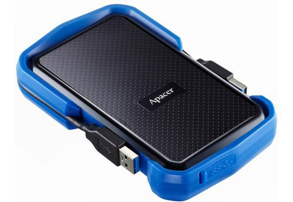 """Зовнішній жорсткий диск Apacer 2ТБ 2.5"""" USB 3.1 чорний синій AP2TBAC631U-1, мініатюра №2"""
