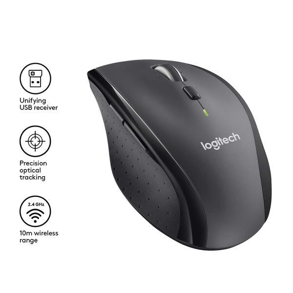 Мишка Logitech M705 Marathon Wireless Black (910-001949), мініатюра №9