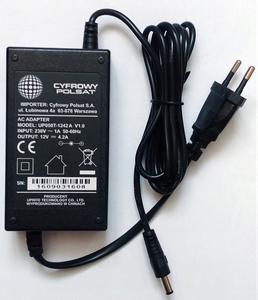 Блок питания Cyfrowy Polsat 12V 4.2A штекер 5.5 x 2.1 (UP050T-1242A)