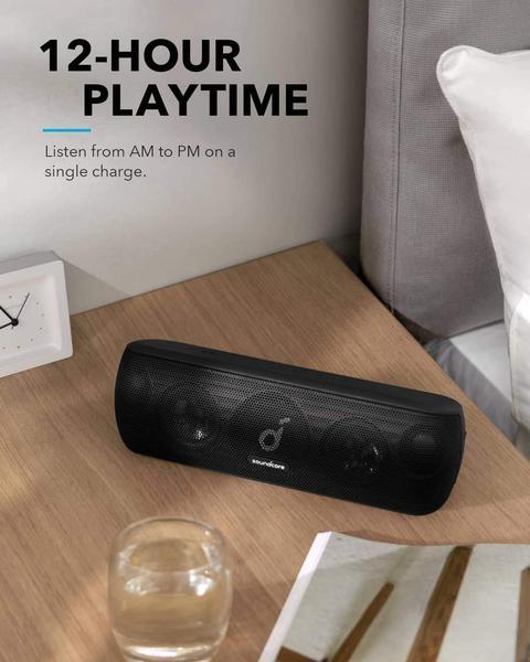 Бездротова Bluetooth Колонка Anker SoundCore Motion Plus 30W Waterproof IPX7 5.0 Qualcomm aptX, мініатюра №6