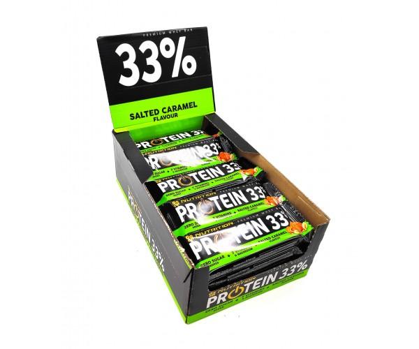 Батончик GO ON Nutrition Protein Bar 33% соленая карамель - 50 грамм блок - 25 штук, мініатюра №1