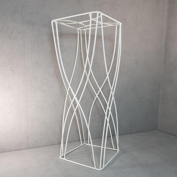 Підставка під квіти WireDecorArt ЗигЗаг 60x20 см білий, мініатюра №1