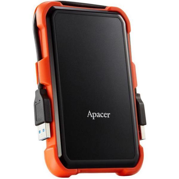 """Зовнішній жорсткий диск Apacer 2ТБ 2.5"""" USB 3.1 чорний помаранчевий AP2TBAC630T-1, мініатюра №4"""