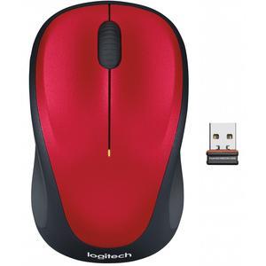 Мышь оптическая беспроводная для правшей и левшей Logitech M235 Red (910-002496)