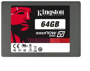 """Внутренний накопитель Kingston SSD Now V200 64GB 2.5"""" SATAIII MLC SV200S37A 64G"""
