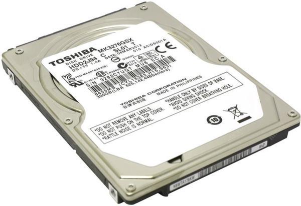 """Внутрішній жорсткий диск Toshiba 320ГБ 5400 обертів в хвилину 8МБ 2.5"""" SATA II MK3276GSX, мініатюра №3"""