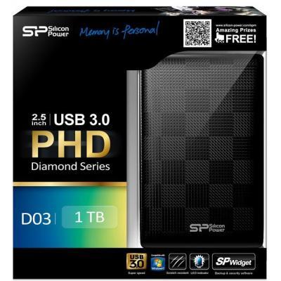"""Зовнішній жорсткий диск Silicon Power 1ТБ 2.5"""" USB 3.0 чорний SP010TBPHDD03S3K, мініатюра №3"""