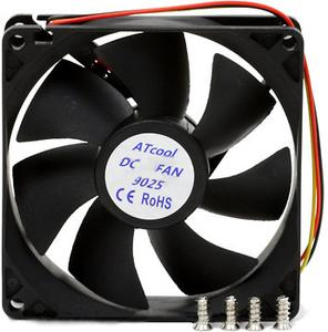 Вентилятор 92 mm ATcool 9025 DC sleeve fan 3pin- 92*92*25мм (10497)