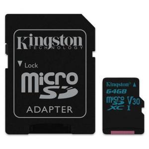 Карта памяти Kingston 64GB microSDXC class 10  UHS-I U3 Canvas Go (SDCG2/64GB)