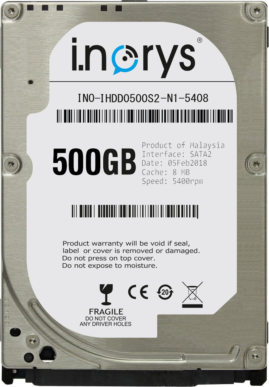 "Внутрішній жорсткий диск I.norys 500GB 5400rpm 8MB INO-IHDD0500S2-N1-5408 2.5"" SATA II"