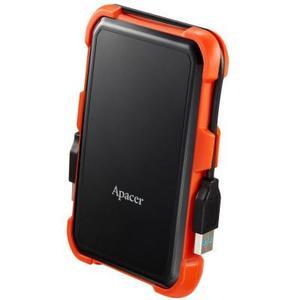 """Зовнішній жорсткий диск Apacer 1ТБ 2.5"""" USB 3.1 чорний помаранчевий AP1TBAC630T-1"""